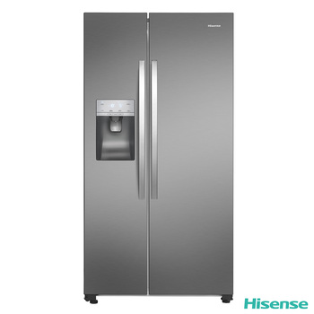 Hisense RS696N4II1, Side by Side Fridge Freezer A+ Rating in Stainless Steel