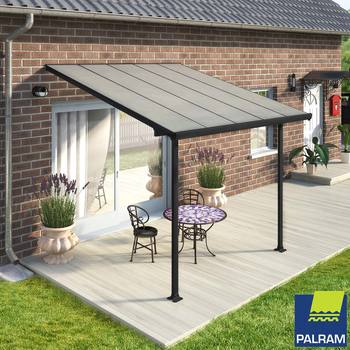 Palram Feria 3 Veranda Patio Cover, Grey in 4 Sizes