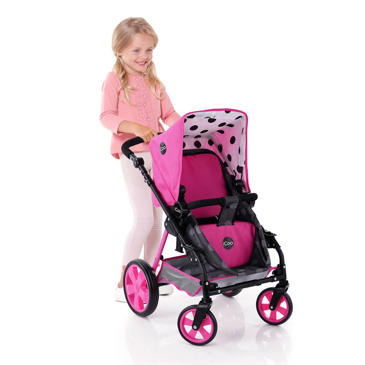 iCoo 3 in 1 Doll Stroller With Adjustable Handles (3 ...