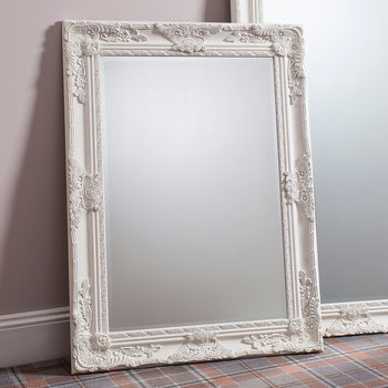 Gallery Hampshire Cream Rectangle Mirror, 113 x 84 cm