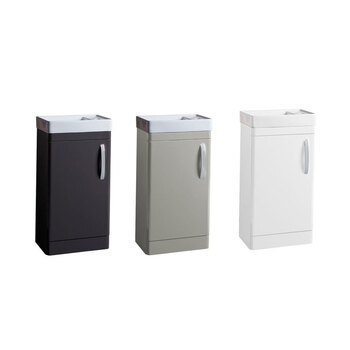 Tavistock Curve 450mm Floor Mounted Cloakroom Vanity Unit in 3 Colours