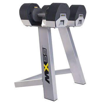 MX SELECT MX55 Rapid Change Adjustable Dumbbell System with Rack
