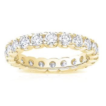 2.00ctw Round Brilliant Cut Diamond Eternity Ring, 18ct Yellow Gold,in 6 Sizes