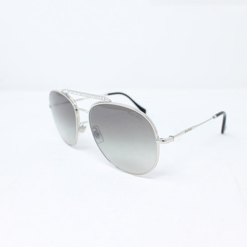 Miu Miu Silver Sunglasses with Grey Lenses, 53VS 1BC-500