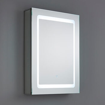 SPA Arte 1 Door 34W LED Mirror Cabinet, 70 x 50 x 13 cm