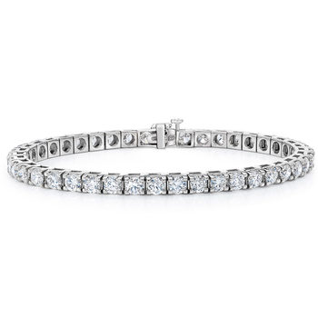 8.00ctw Round Brilliant Cut Diamond Bracelet, 18ct White Gold