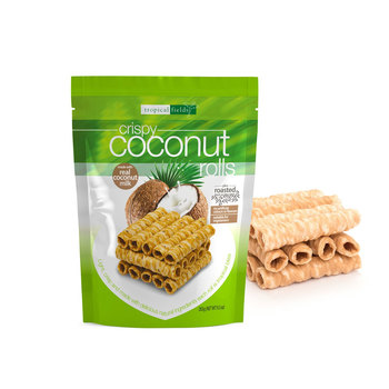 Tropical Fields Crispy Coconut Rolls, 265g