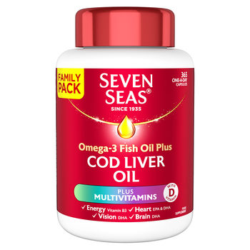 Seven Seas Cod Liver Oil & A-Z Multivitamins, 365 Capsules Family Pack