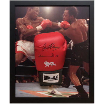 Nigel Benn and Chris Eubank Signed Framed Boxing Glove