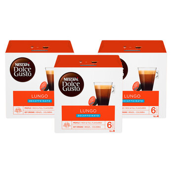 Nescafé Dolce Gusto Lungo Decaf Coffee Pods, 48 Servings