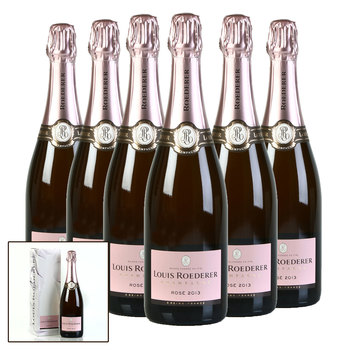 Louis Roederer Vintage Rosé 2013, 6 x 75cl with Gift Boxes