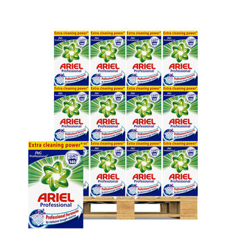 Ariel Washing Powder, 140 Wash Pallet Deal (72 Units)