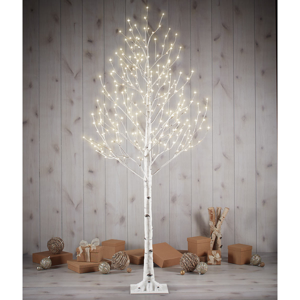 7ft 2 1 M Indoor Outdoor Fully Lit Birch Twig Tree With 280 Led Lights Costco Uk