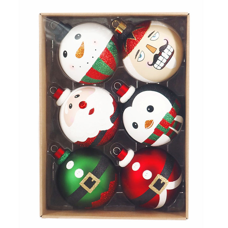 whimsical christmas ornaments set of 6
