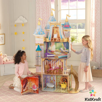 KidKraft Disney® Princess Royal Celebration Dollhouse With Expansion Play Book With 10 Pieces Of Furniture (3+ Years)