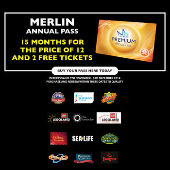 Merlin Premium Annual Pass - 15 Months For The Price of 12 + 2 Free Day Tickets