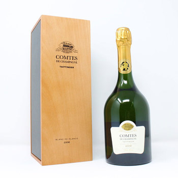 Taittinger Comtes Blanc de Blanc Champagne 2006, 75cl with Gift Box