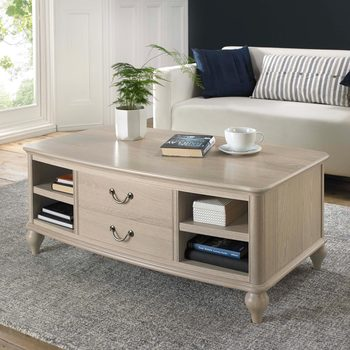 Bentley Designs Margaux Chalk Oak Coffee Table