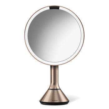 simplehuman LED Sensor Mirror,  Rose Gold ST3027