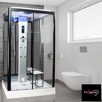 Insignia Diamond 1050 x 850mm Rectangular Steam Shower in 2 Colours