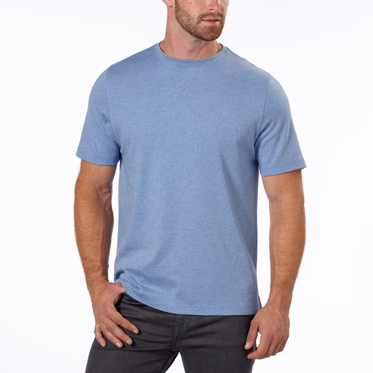 Kirkland signature men 39 s classic t shirt in light blue for Costco t shirt printing