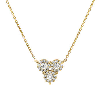 0.48ctw Round Brilliant Cut Diamond Pendant, 18ct Yellow Gold