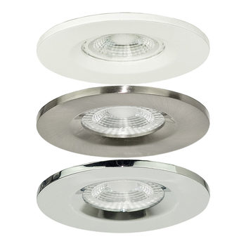 Luceco GU10 IP20 Fire Rated Down Lights (No Lamps) in 3 Colours - 10 Pack