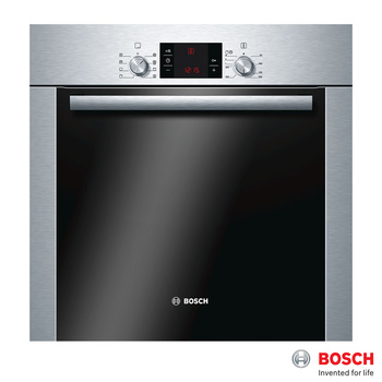 Bosch 63 Litre Integrated Single Oven, HBA63R252B in Stainless Steel