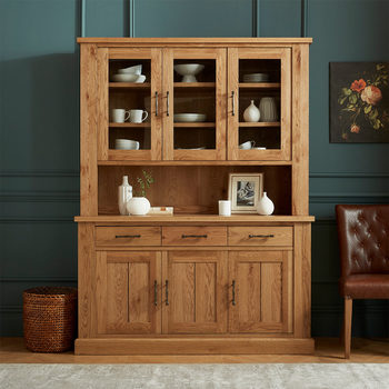 Bentley Designs Westbury Rustic Oak Glazed Dresser