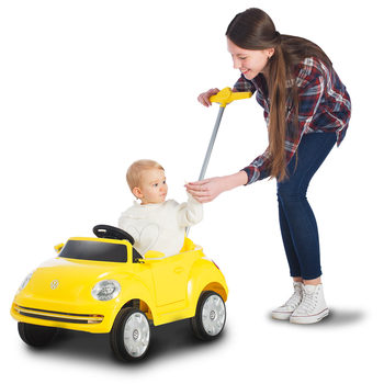 Rollplay VW Beetle Children's Push Car Ride On - Yellow (12+ Months)