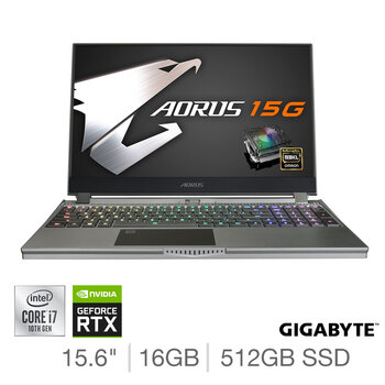 Buy Gigabyte AORUS, Intel Core i7, 16GB RAM, 512GB SSD, NVIDIA GeForce RTX 2070 Max Q, 15.6 Inch Gaming Laptop, 15G WB-8UK2130MH at costco.co.uk