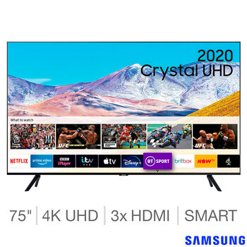 Samsung UE75TU8000KXXU 75 Inch 4K Ultra HD Smart TV