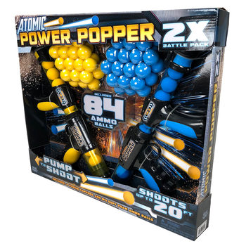 Atomic Power Popper With 84 Foam Balls - 2 Pack (4+ Years)