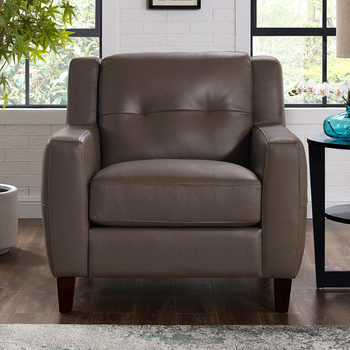 Antonia Brown Leather Armchair