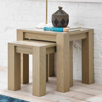 Bentley Designs Turin Aged Oak Nest of Tables