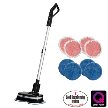 AirCraft PowerGlide Cordless Hard Floor Cleaner & Polisher Black + Extra Set of Pads