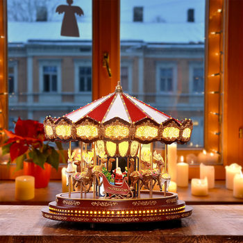 15.8 Inch (40 cm) Christmas Marquee Grand Carousel