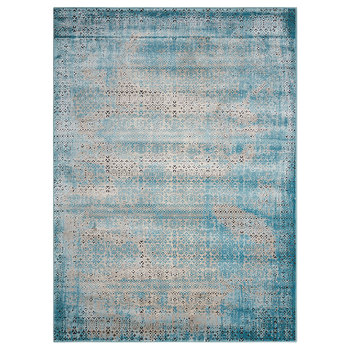 Karma Blissful Blue Textured Rug in 2 Sizes