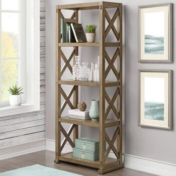 "Bayside Furnishings 72"" Burke Bookcase"
