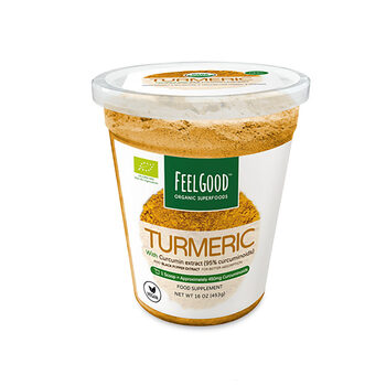 Feel Good Organic Turmeric Root Powder, 453g