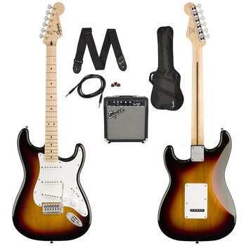 Squier Stratocaster® by Fender Electric Guitar Bundle in Sunburst