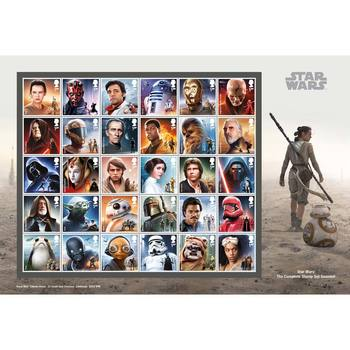 Star Wars Royal Mail® Collectable Stamps - Complete Stamp Collection Souviner