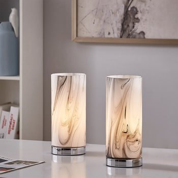 Lumis Marble Effect Glass Touch Lamp, 2 Pack