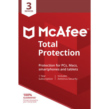 McAfee Total Protection 3 Device, 1 Year
