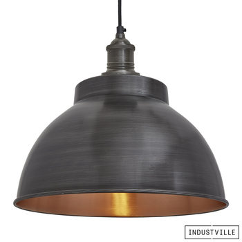 "Industville Brooklyn 13"" Dome Pendant Light in 5 Colours"