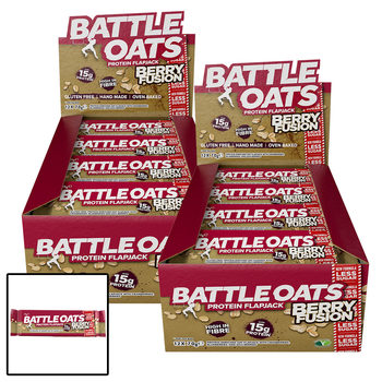 Battle Oats Berry Fusion Protein Flapjack Bars, 24 x 70g