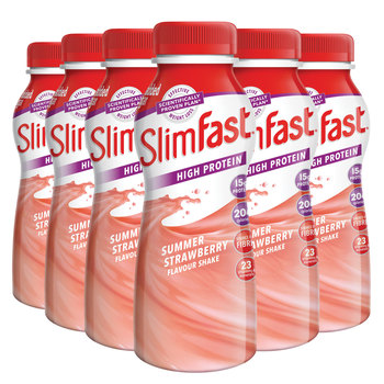 Slimfast Strawberry Milkshake, 6 x 325ml