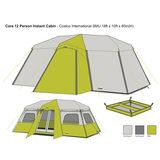 f4833e33f46 Campvalley Core 12 Person Instant Cabin Tent | Costco UK