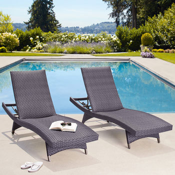 Palm Aire Woven Padded Chaise Lounge 2 Pack