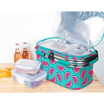 Igloo Picnic Cool Basket with 4 Piece Food Storage Set